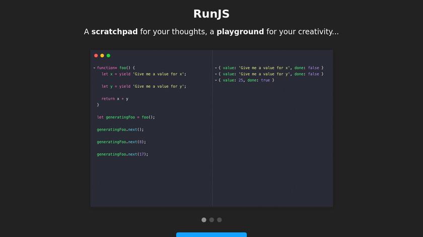 RunJS Landing Page