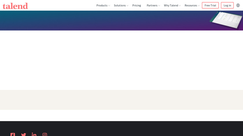 Talend Big Data Platform Landing Page