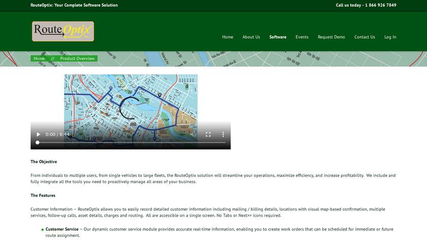 RouteOptix Landing Page
