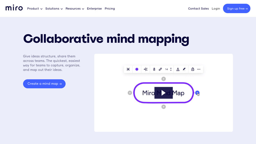 Mind Map by RealtimeBoard Landing Page