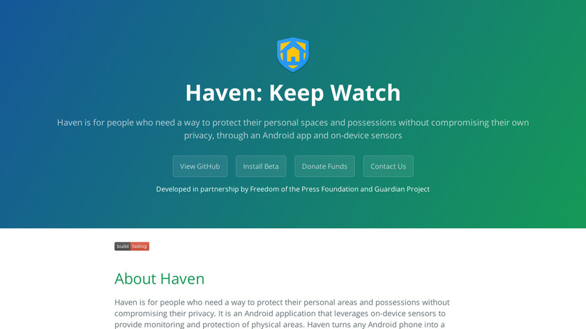 Haven Landing Page