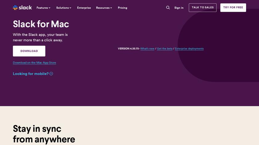 Slack for Mac Landing Page