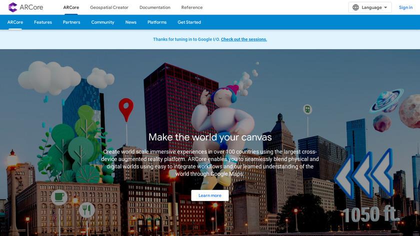 Google ARCore Landing Page