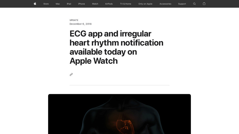 ECG for Apple Watch Landing Page
