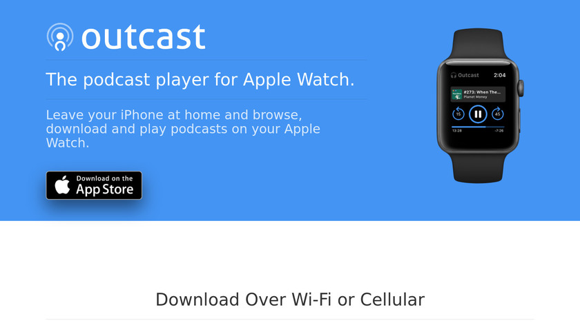 Outcast for Apple Watch Landing Page