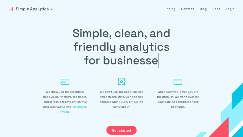 Simple Analytics Landing Page