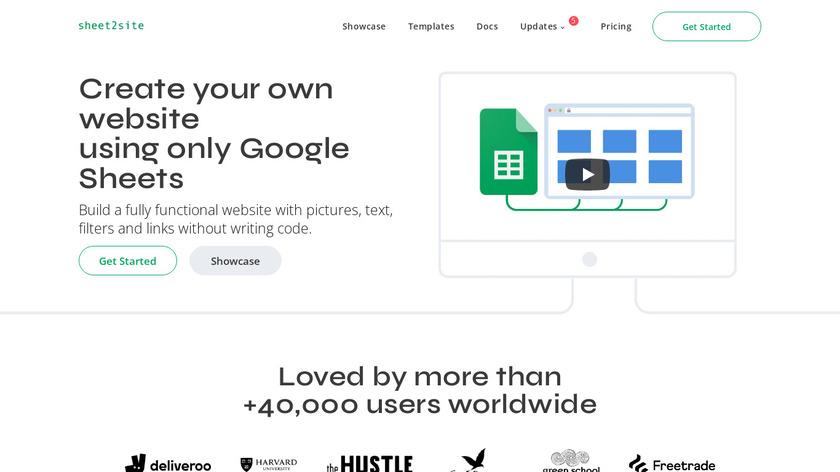 Sheet 2 Site Landing Page
