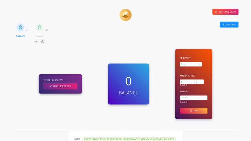 Coin Demo Landing Page