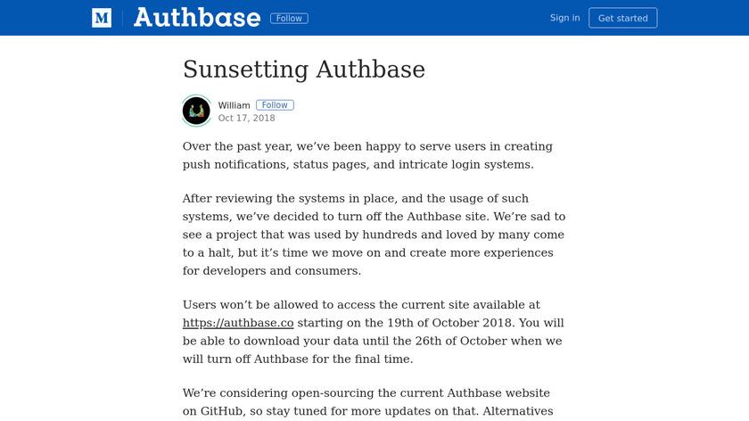 Authstatus Landing Page