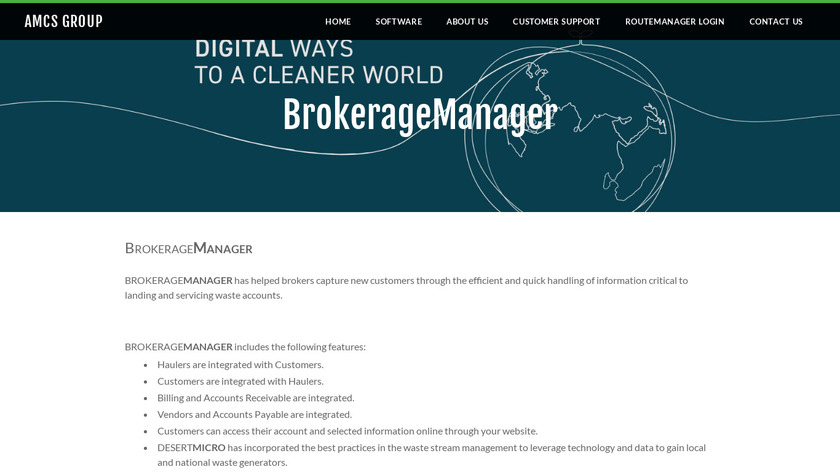 BROKERAGEMANAGER Landing Page