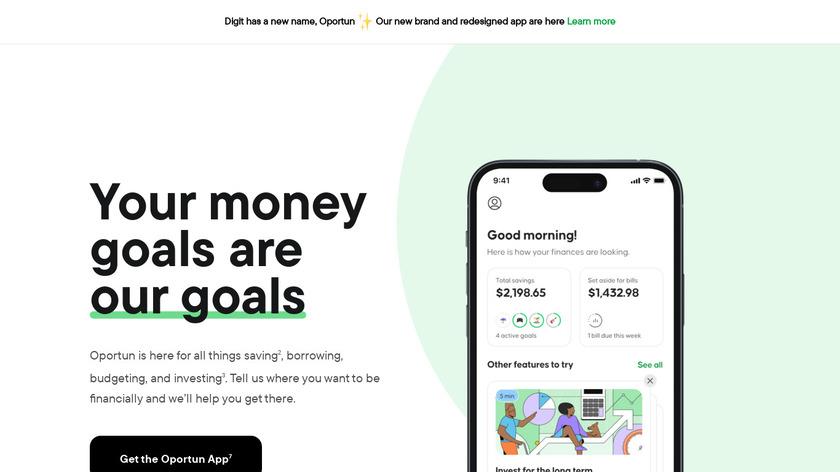 Digit Landing Page