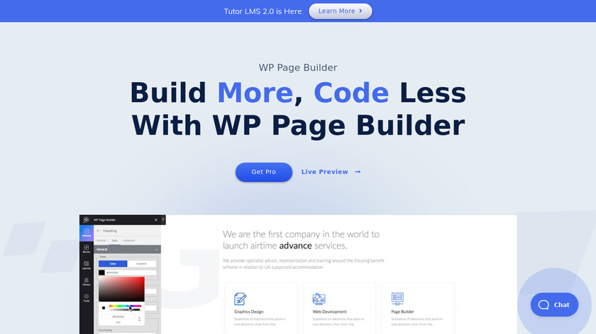WP Page Builder Landing Page