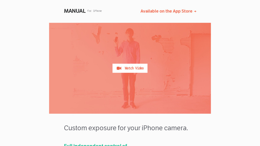 Manual Camera for iPhone Landing Page