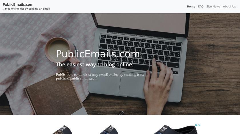PublicEmails Landing Page