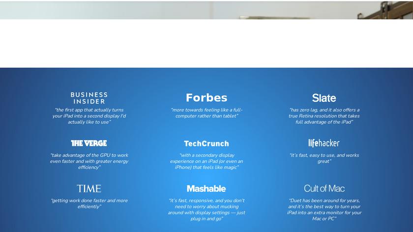 Duet Pro Landing Page