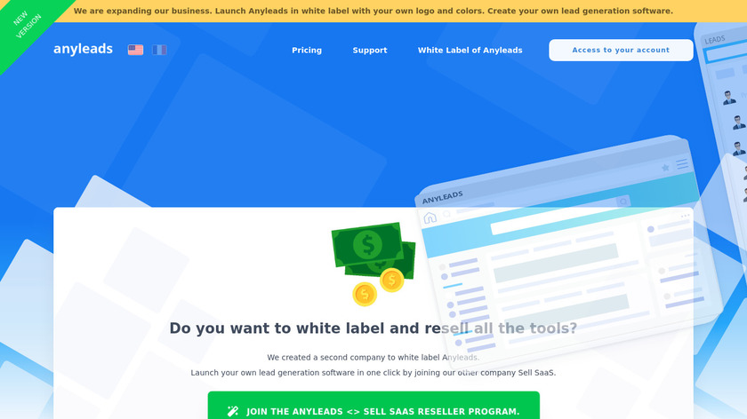Anyleads Landing Page