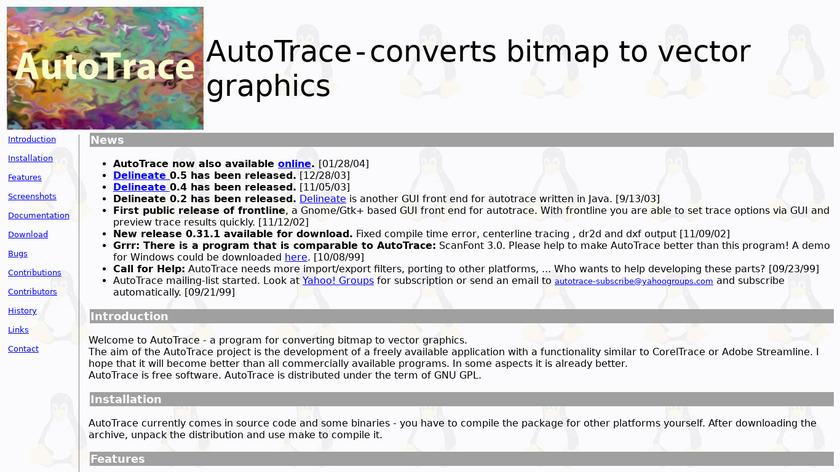 AutoTrace Landing Page