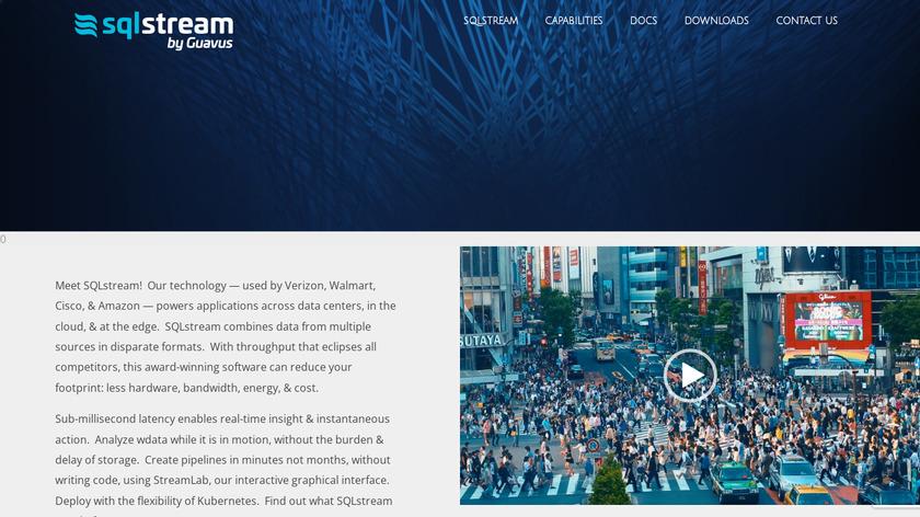 SQLstream Landing Page