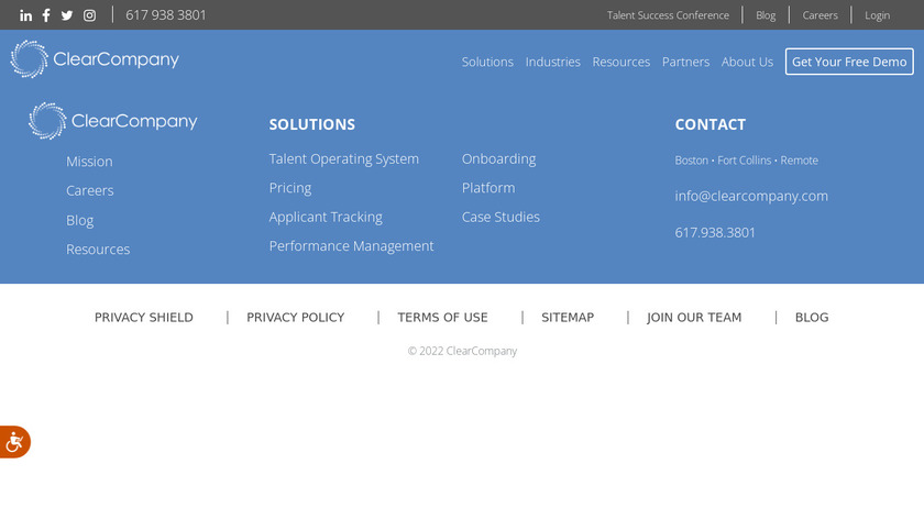 ClearCompany Landing Page
