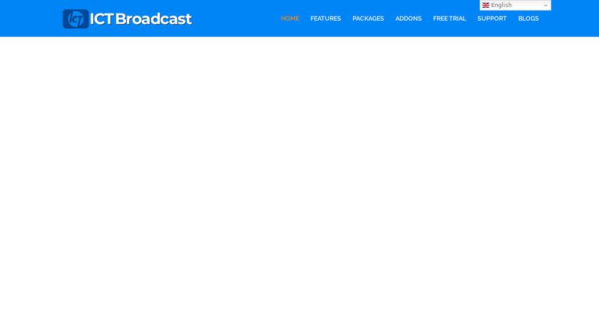 ICTBroadcast Landing Page