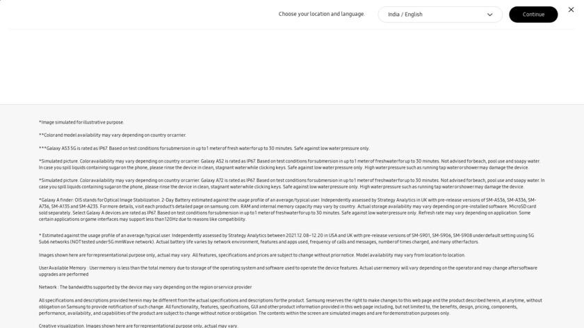 Samsung Galaxy A9 Landing Page