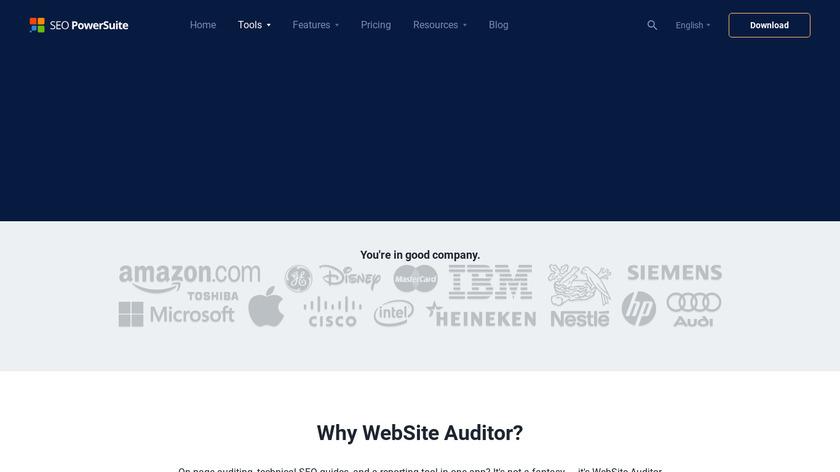WebSite Auditor Landing Page