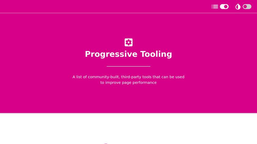 Progressive Tooling Landing Page
