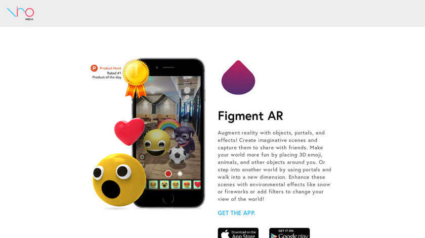 Figment AR Landing Page
