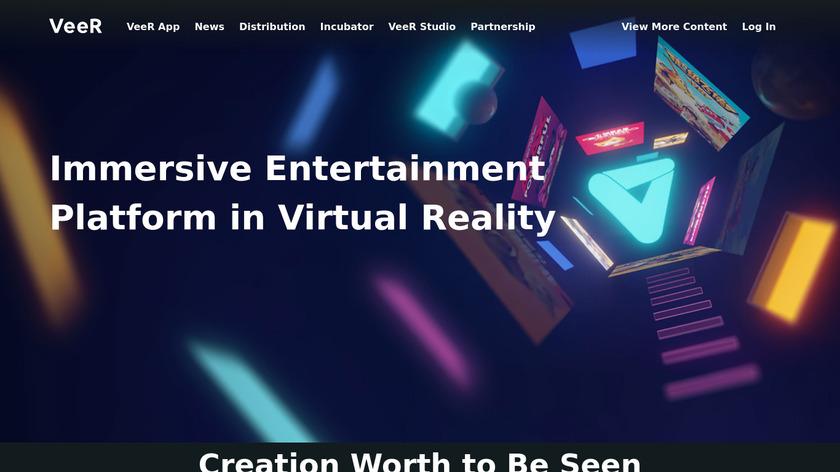 VeeR VR Landing Page