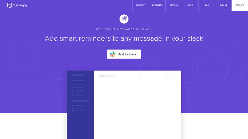 Smart Slack Reminders Landing Page
