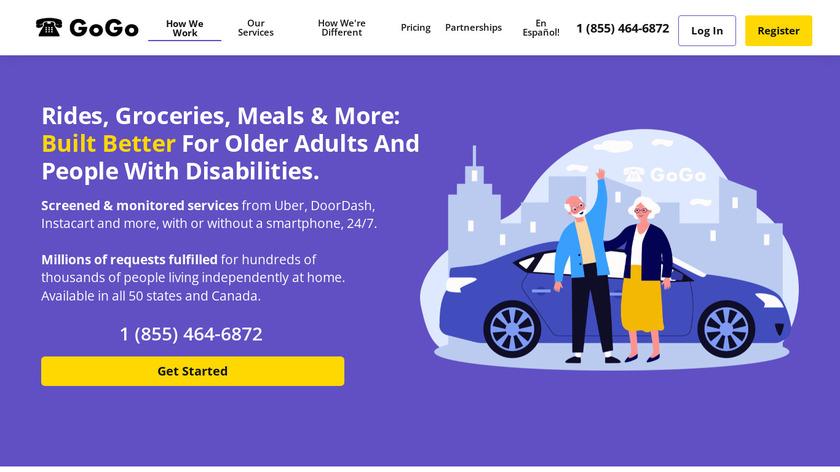 GoGoGrandparent Landing Page