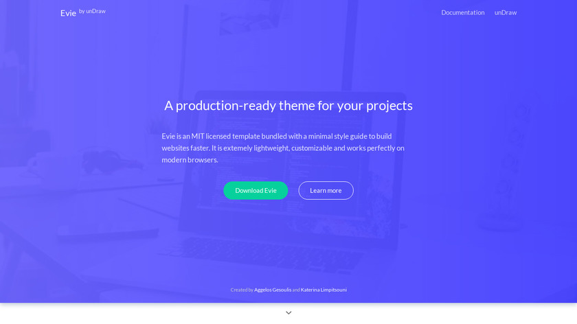 Evie by unDraw Landing Page