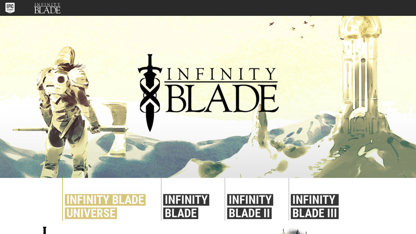 Infinity Blade Landing Page