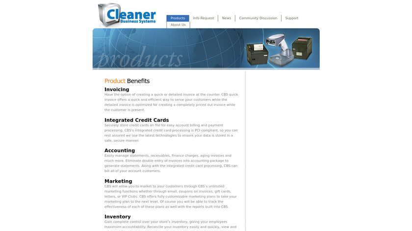 cleanerbusiness.com CBS Landing Page