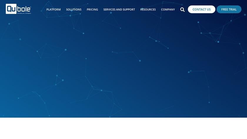 Qubole Landing Page