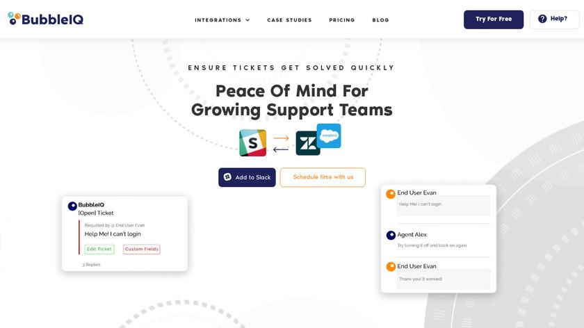 BubbleIQ Landing Page
