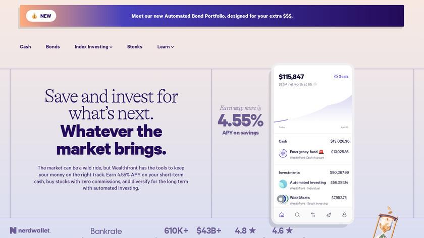 Wealthfront Landing Page