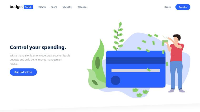 Budget.cool Landing Page