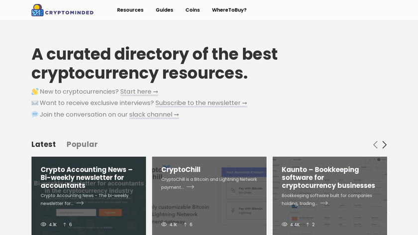 Cryptominded Landing Page