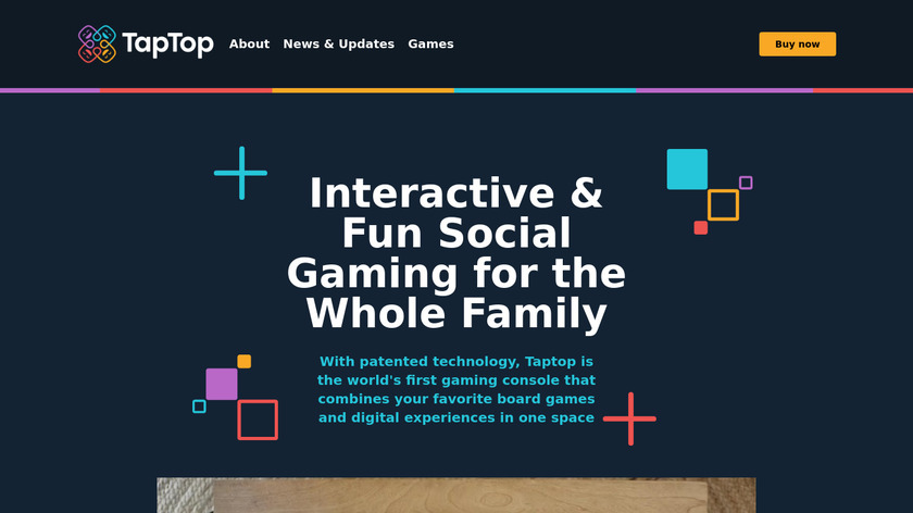 PlayTable Landing Page