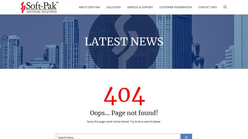 soft-pak.com i-Pak Landing Page