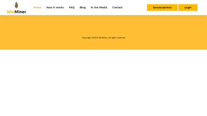 WinMiner Landing Page
