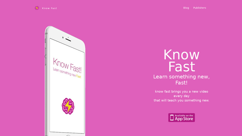 Know Fast Landing Page