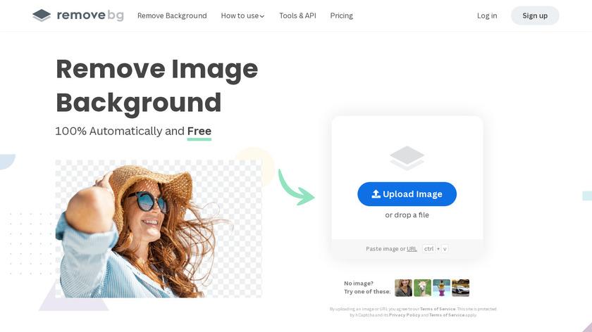 remove.bg Landing Page