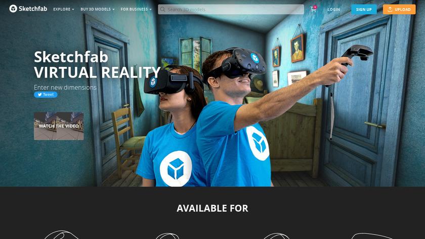 Sketchfab Virtual Reality Landing Page