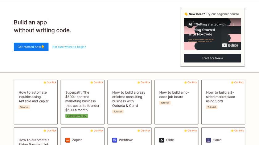 Makerpad Landing Page