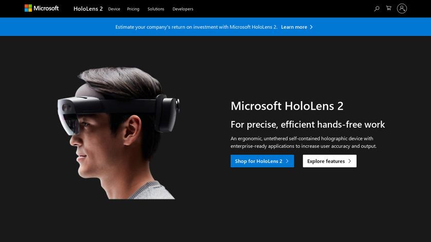 Microsoft Hololens Landing Page