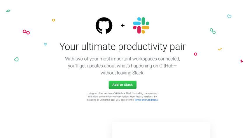 GitHub + Slack Integration Landing Page