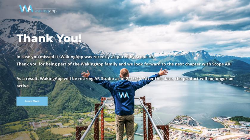 WakingApp Realities Landing Page