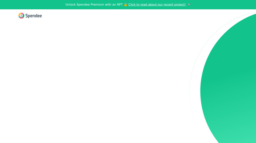 Spendee Landing Page